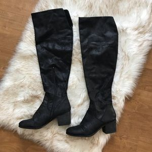 OVER THE KNEE OTK Report Fisher boots 9.5